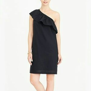 NEW! J. Crew Black One Shoulder Dress